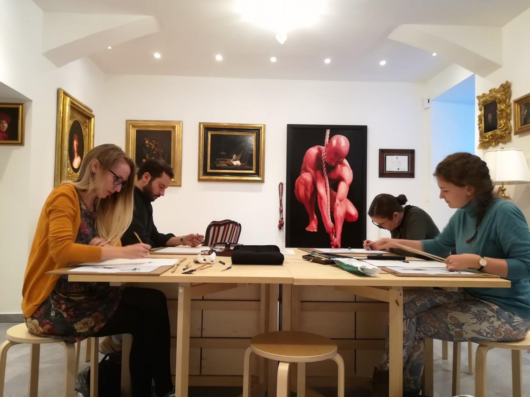 Miranda May, Damir May in May fine art studio