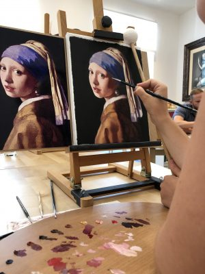 portrait painting course may fine art studio